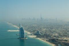 Burj Al Arab Aerial View Royaltyfri Foto