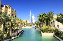 Burj Al Arab And Madina Jumeirah Royalty Free Stock Photos