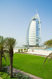 Burj al arab on the beach day time Royalty Free Stock Photography
