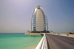 Burj Al Arab - Day. Dubai Burj al Arab in the day taken from the road leading up to it Stock Image