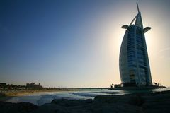 Burj al Arab, Dubai. Burj al Arab hotel with Al Qasr resort in background Stock Photo