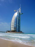 Burj Al Arab. (Tower of the Arabs) is a luxury hotel located in Dubai, United Arab Emirates. It has been called The worlds only 7 star Hotel and is the third Royalty Free Stock Photos