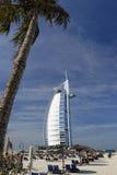 Burj Al Arab hotel. The beach and the Burj Al Arab hotel in Dubai, UAE Stock Image