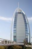 Burj al Arab hotel - Dubai. Viewed from the bridge Stock Photos