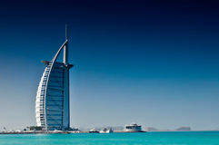 Burj Al Arab. In Dubai is a luxury 5 stars hotel Royalty Free Stock Photos