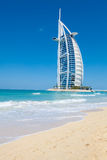 Burj Al Arab Hotel, Dubai. Side view stock image