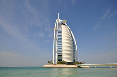 Burj Al Arab hotel in Dubai Royalty Free Stock Photo