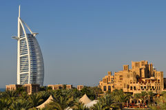 Burj Al Arab hotel in Dubai Royalty Free Stock Images