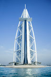 Burj Al Arab hotel on May  10, 2014 in Dubai, sea  Royalty Free Stock Photos