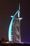 Burj Al Arab hotel at night Stock Image