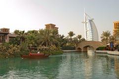 The Burj Al Arab hotel during sunset Stock Image