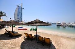 Burj Al Arab hotell i Dubai Arkivfoto
