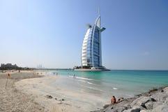 Burj Al Arab hotell i Dubai Royaltyfria Foton
