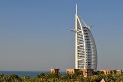 Burj Al Arab hotell i Dubai Arkivbild