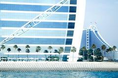 Burj Al Arab hotell på Maj 10, 2014 i Dubai Arkivfoton