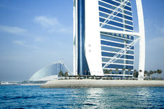 Burj Al Arab hotell på Maj 10, 2014 i Dubai fotografering för bildbyråer