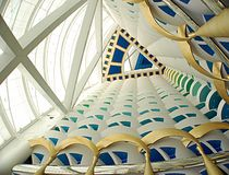 Burj al arab inside Stock Photos