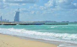 Burj Al arab jest jedyni 7 gwiazdowym hotelem w świacie obrazy stock