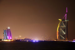 Burj al Arab and Jumeirah Royalty Free Stock Photos