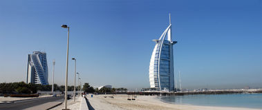 Burj Al Arab, Jumeirah-Beach, Dubai. Burj Al Arab, Jumeirah-Beach, Landmark, Dubai, Middle East Royalty Free Stock Photo