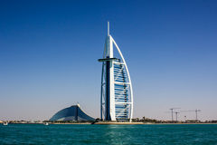 Burj Al Arab and Jumeirah Beach Hotels Stock Images