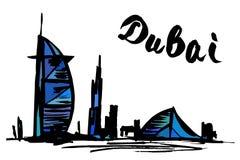 Burj Al Arab Jumeirah et hôtel de plage de Jumeirah - Dubaï Images libres de droits