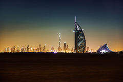 Burj Al Arab and Jumeirah hotel stock photos