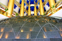 Burj Al Arab lobby Royalty Free Stock Images