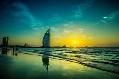 Burj Al Arab is a luxury 5 stars hotel Stock Images