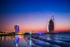 Burj Al Arab is a luxury 5 stars hotel Royalty Free Stock Image