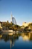 Burj Al Arab and Madinat Jumeirah in Dubai Stock Image