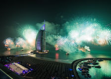 Burj al arab new years eve celebration Royalty Free Stock Photography