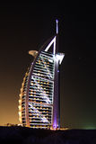 Burj al Arab at night Stock Image