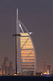 Burj al Arab at night, Dubai Royalty Free Stock Image