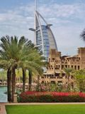 Burj Al Arab. Seen from Souk al Madinat Stock Photos