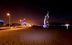 Burj al Arab a 7 stars hotel royalty free stock photo