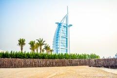 Burj Al Arabe hotell i Dubai Fotografering för Bildbyråer