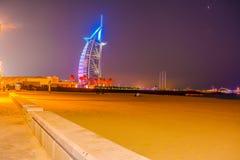 Burj Al Arabe hotell i Dubai Arkivfoton