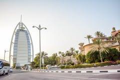 Burj Al Arabe hotell i Dubai Royaltyfria Foton