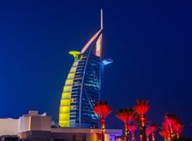 Burj Al Arabe hotell i Dubai Royaltyfri Fotografi