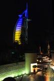 Burj Al-Araber in Dubai stockfoto