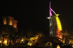 Burj Al-Araber-Hotel stockfotos