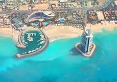 Burj Al-Araber, Jumeirah Strand-Hotel, Dubai lizenzfreies stockfoto
