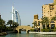 Burj Al-Araber, Madinat Jumeirah Stockfotos