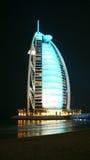 Burj Al Araber nachts Lizenzfreie Stockfotografie