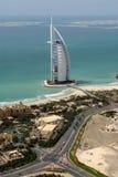 Burj Al-Araber u. die Welt stockfotos