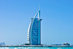 Burj Al-arabisches Hotel in Dubai Stockbild