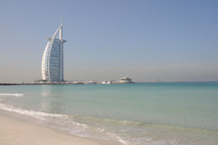 Burj Al-arabisches Hotel in Dubai Stockfotos