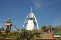 Burj Al-arabisches Hotel in Dubai stockbilder