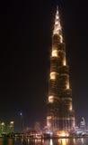 Burj al-Khalifa är den mest högväxta byggnaden i Dubai Fotografering för Bildbyråer